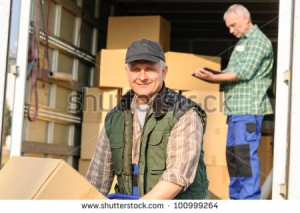 Property movers shipping boxes